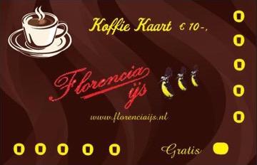 Florencia koffiekaart 11 halen 10 betalen