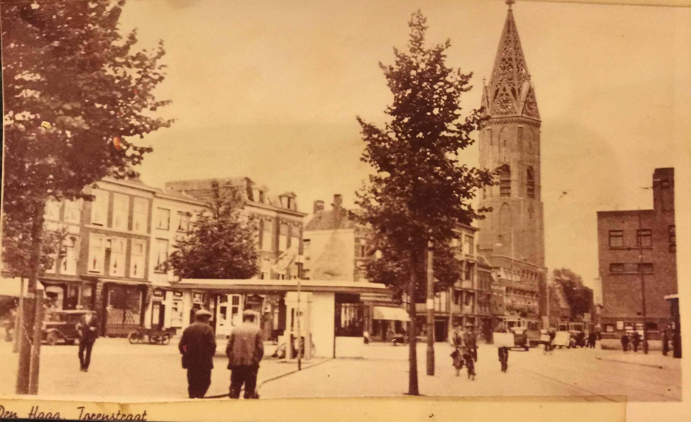Het Torenplein rond 1960